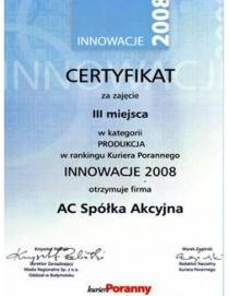 Innovations 2008 in the category of Production