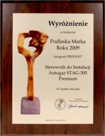 An Award for Autogas Injection Controller STAG-300 Premium in Podlasie Brand of