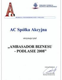 Business Ambassador – Podlasie 2008