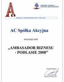 Business Ambassador – Podlasie 2008