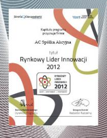 Market Leader of Innovation 2012 – Quality, Creativity, Effectiveness