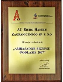 Business Ambassador – Podlasie 2007